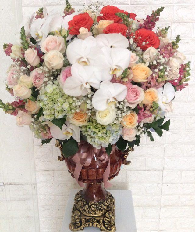 Hoa cam binh hoa tuoi cong hoa